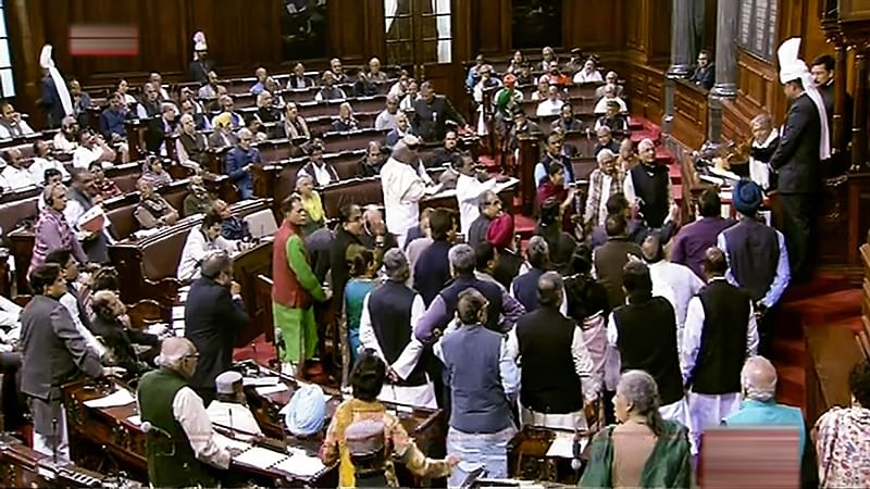 10% quota for upper castes: Congress, others, protest as Govt moves Constitution Bill in Rajya Sabha