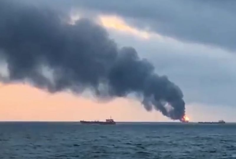 At least 14 dead as two ships with Indian crew members catch fire in Kerch Strait near Russia