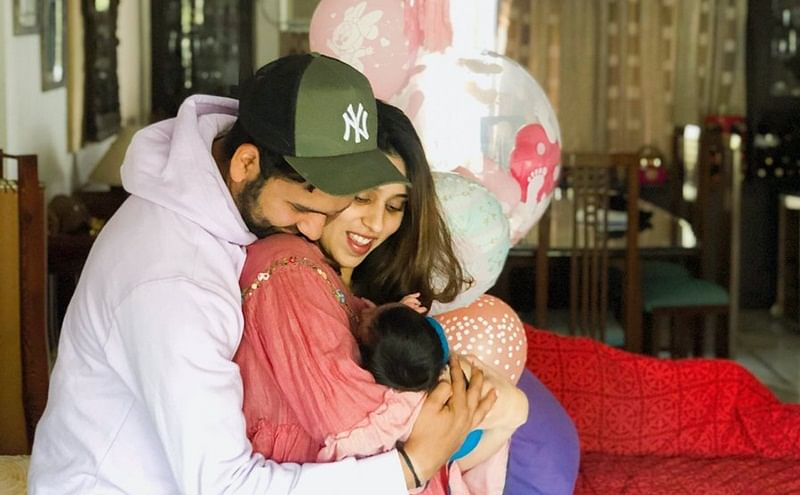 Rohit Sharma reveals newborn daughter's name, shares adorable family photo