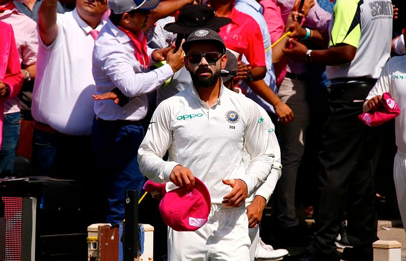 Raising breast cancer awareness, Indian cricketers present Pink caps during Sydney Test to support McGrath Foundation
