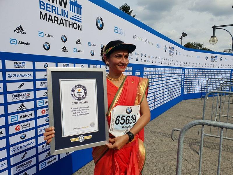 Kranti Salve at the Berlin Marathon