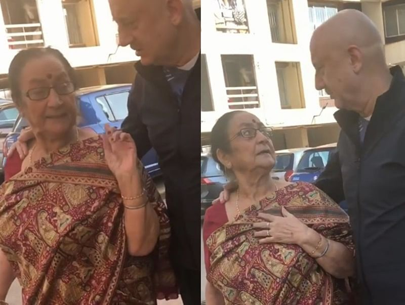 Anupam Kher's mom is every Indian mother ever, calls Anil Kapoor fatter than her son; watch video