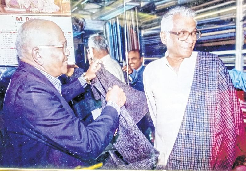 This shop dressed up Mr George Fernandes for almost half his life