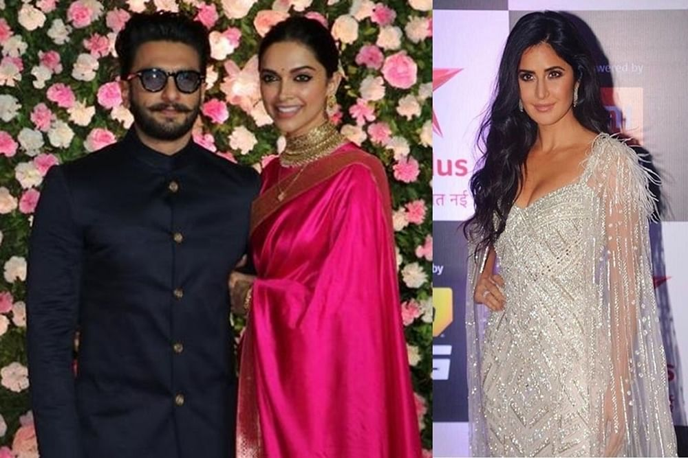 Deepika-Katrina hug it out, but it is Ranveer's reaction that grabs attention
