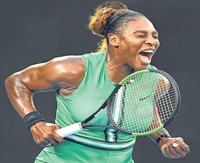 Serena Williams muscles past Simona Halep