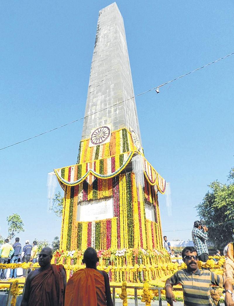 Maharashtra: Thousands visit 'Jay Stambh' on Bhima-Koregaon anniversary eve