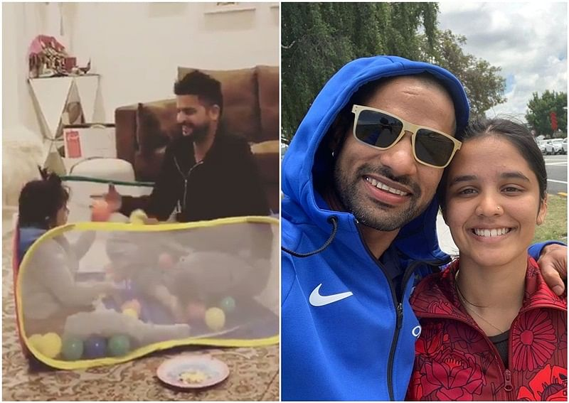 You go girl! Suresh Raina and Shikhar Dhawan share cute pictures with daughters on National Girl Child Day