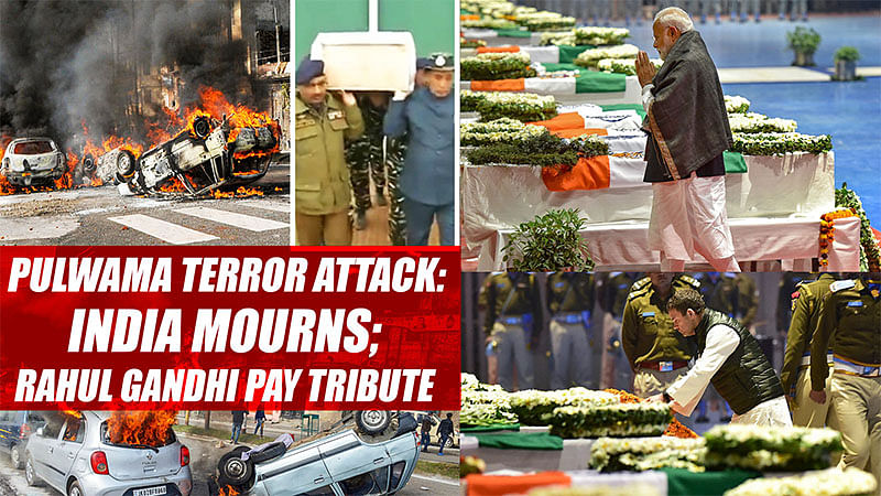 Pulwama terror attack: India mourns; Modi, Rahul Gandhi pay tribute