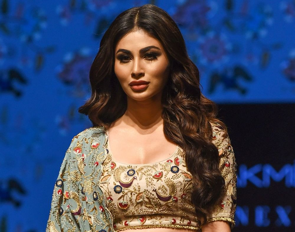 Mouni Roy looks every bit stunning as showstopper for designer Payal Singhal