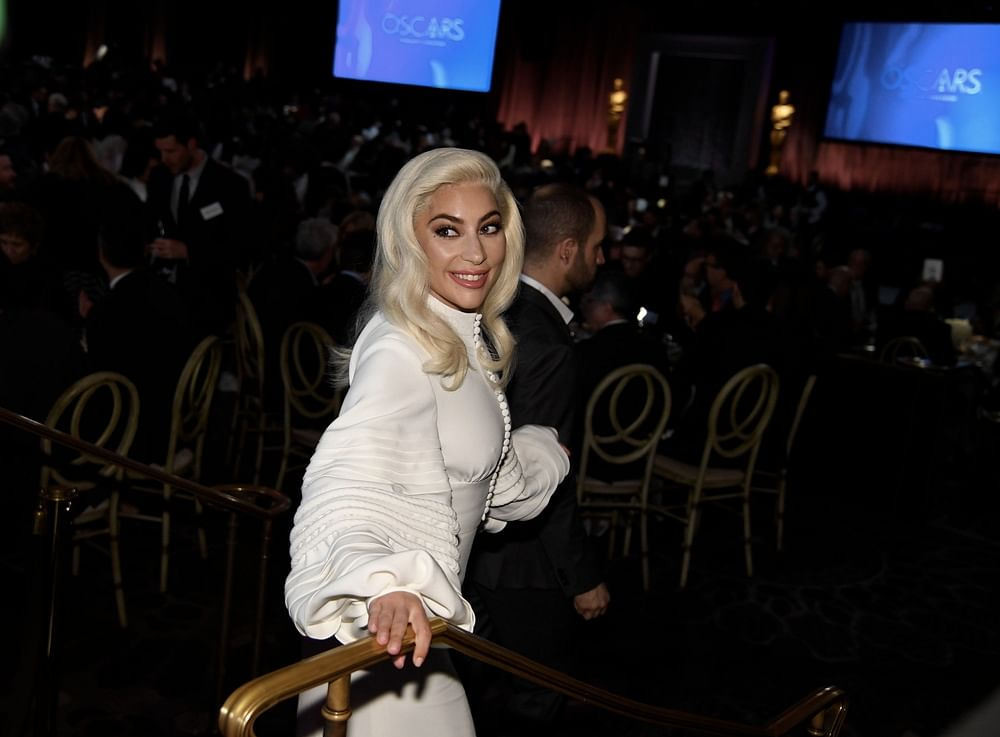 """Lead Actress nominee and Original Song nominee for """"Shallow"""" from """"A Star is Born"""" singer/songwriter Lady Gaga arrives inside the 91st Oscars Nominees Luncheon<br />Photo by Robyn BECK / AFP"""