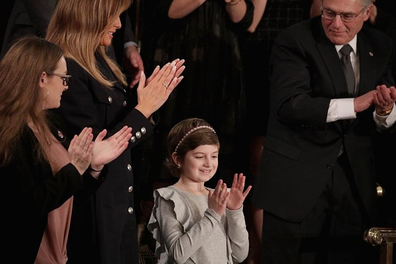 10-year-old cancer-survivor steals spotlight during Donald Trump's annual address