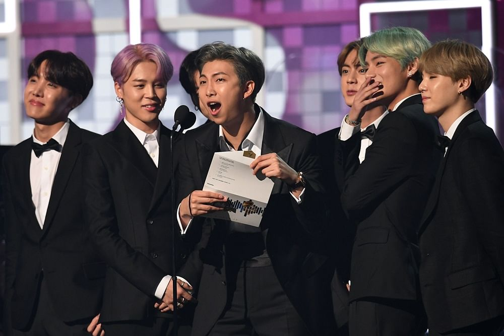 K-pop group BTS make history by presenting at the Grammy Awards 2019