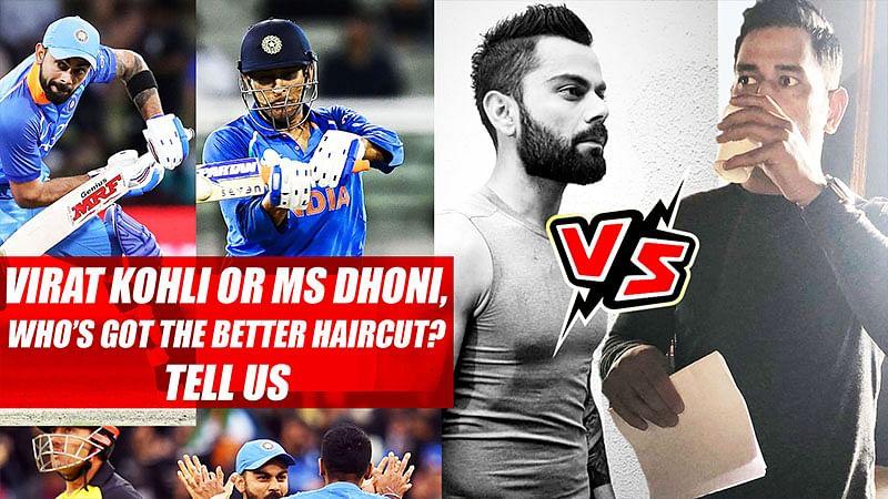 Virat Kohli or MS Dhoni, Who's Got The Better Haircut? Tell Us