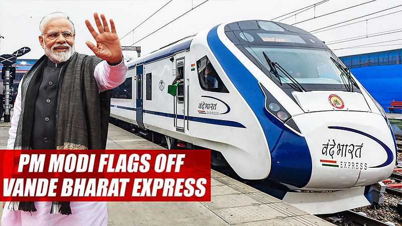 PM Modi Flags Off Vande Bharat Express Amid Sombre Mood After Pulwama Attack