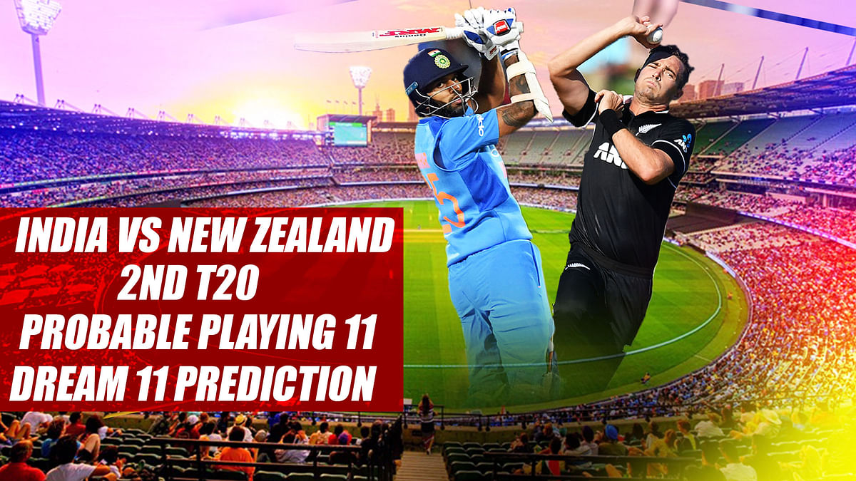 India vs New Zealand 2nd T20 Probable Playing 11, Dream 11 Prediction