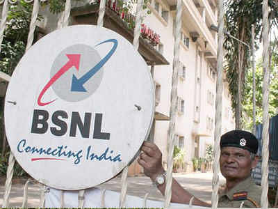 Indore: BSNL employees on three-day strike