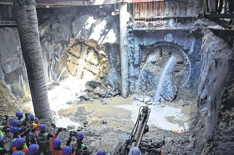 Mumbai: Twin-tunnel breakthrough at Dadar Metro station