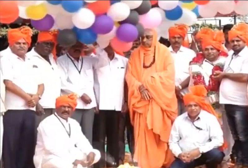 Watch: Balloons catch fire at Suttur Mutt in Karnataka, three injured