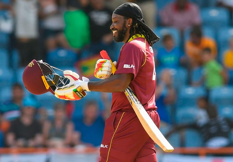 Chris Gayle smashes 77 from 27 as West Indies thrash England to level ODI series