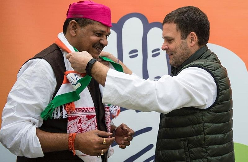 Cricketer-turned-politician Kirti Azad joins Congress in Rahul Gandhi's presence