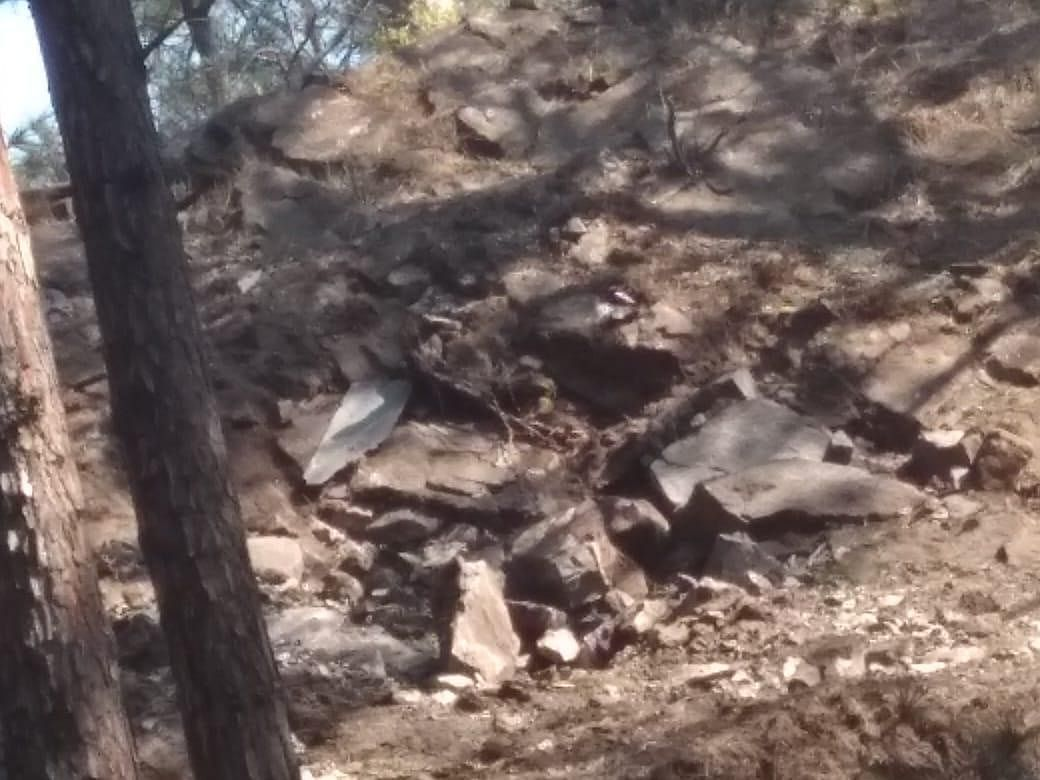 See Pics! Craters formed by Pakistani bombs dropped near Indian Army post in Rajouri sector