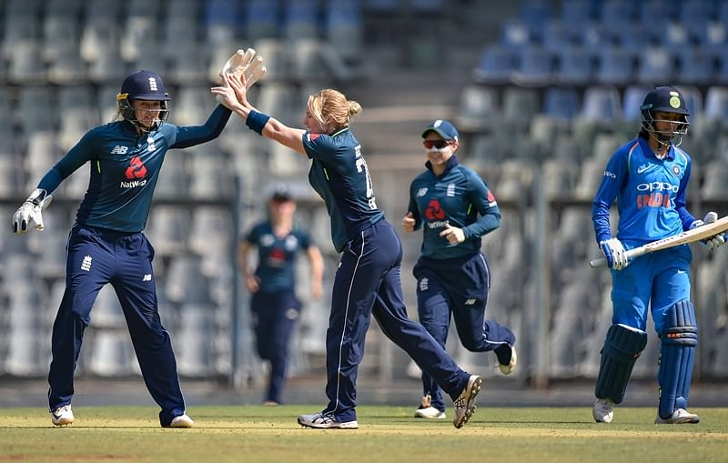 Katherine Brunt's five-wicket haul restricts India women to 205-8 in 3rd ODI