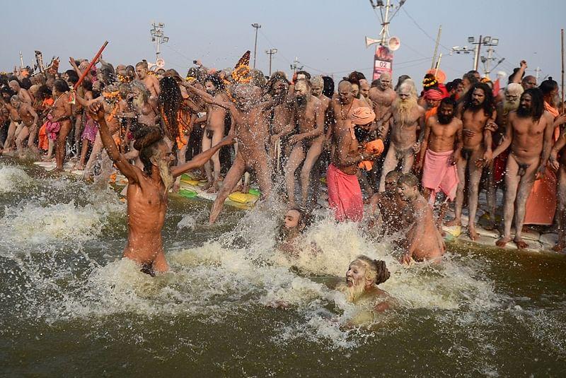 Crores gather for holy dip in Kumbh Mela on Mauni Amavasya