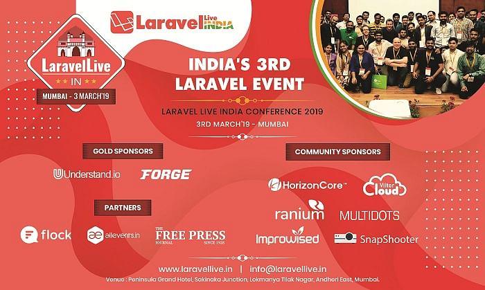 India's 3rd Laravel event – Laravel Live India Conference 2019
