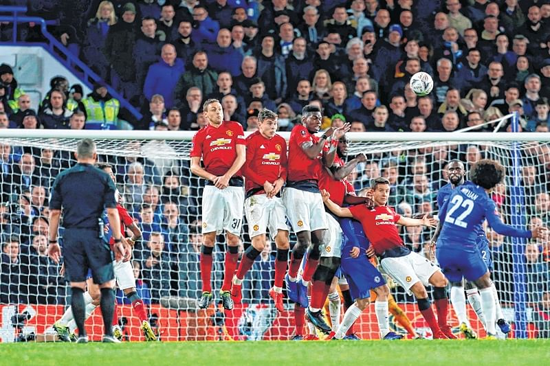 FA Cup: Paul Pogba fires up Manchester United against Chelsea