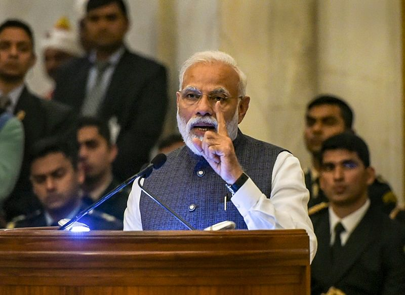 At Gandhi Peace Prize event, PM Narendra Modi makes indirect reference to air strikes
