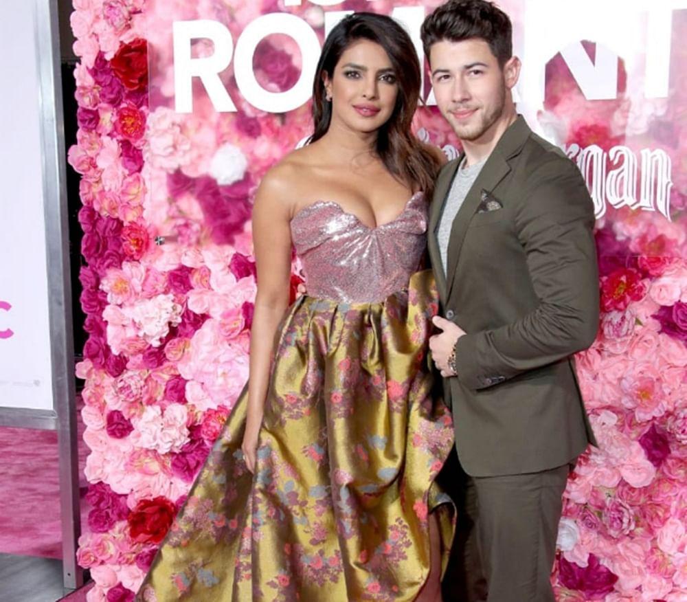 Priyanka Chopra,Nick Jonas steal a kiss at the premiere of 'Isn't It Romantic'; see pics