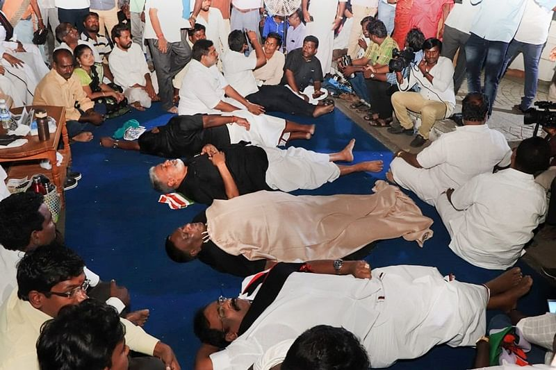 Puducherry CM's dharna against Lt Governor enters 5th day, he warns of 'jail bharo' from February 20