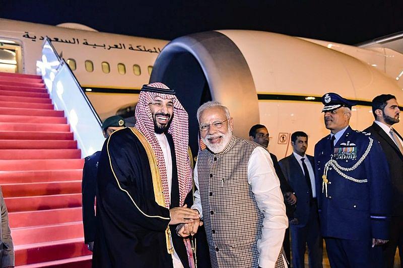 Saudi Crown Prince Mohammed bin Salman arrives in India with his Pak baggage