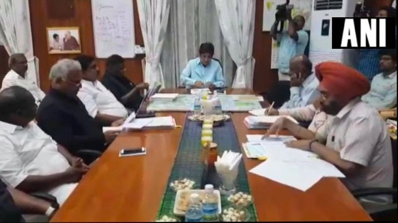 Puducherry CM Narayanasamy ends sit-in after talks with Lt Governor Kiran Bedi