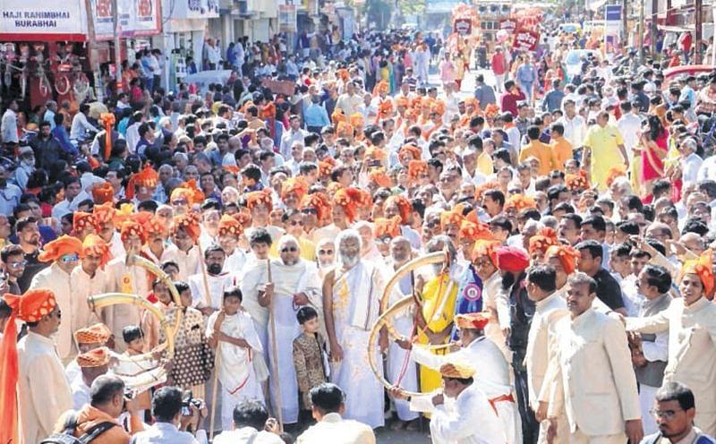 Ujjain: Jain community members join procession in huge numbers