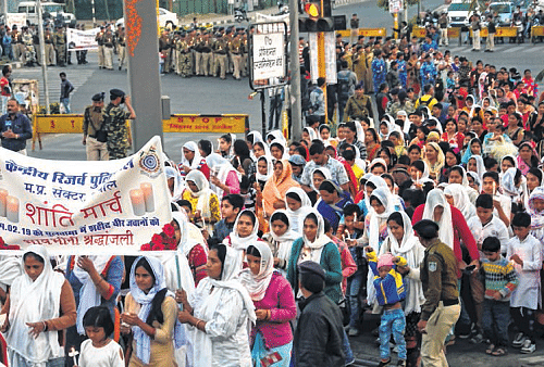 Bhopal: Peace march