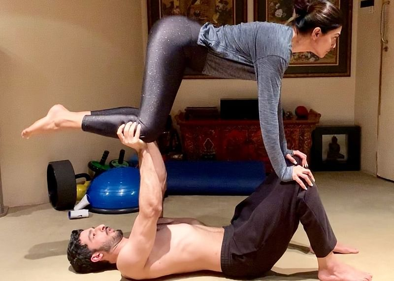 Working out with your partner is an exercise in togetherness, go for it