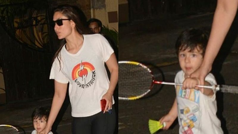 Taimur Ali Khan looks adorable in white tee with colourful words and pictures on it; watch video