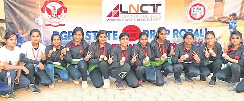 Bhopal: RGPV state level Drop RoBall Championship City girls win gold across categories