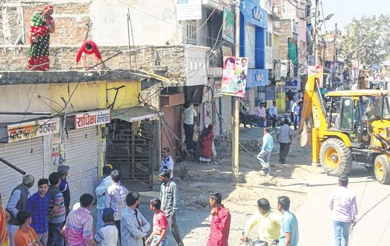 Indore: Amid protests, IMC demolishes structures at Kushwah Nagar