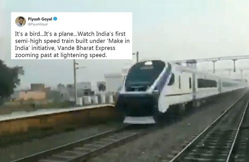 Fake in India? Twitterati claim Railway Minister Piyush Goyal shared edited video of 'Vande Bharat Express'
