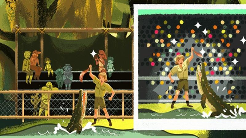 Google dedicates doodle to remember late crocodile hunter Steve Irwin