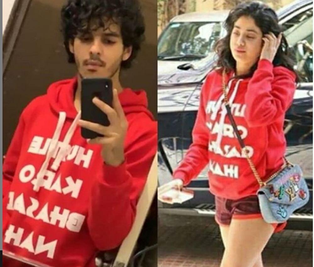 Couple Alert? Janhvi Kapoor, Ishaan Khatter twinning in red adds fuel to relationship rumours