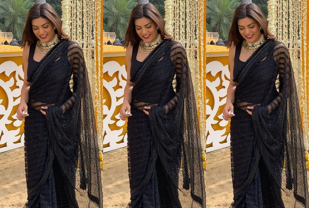 Hello Gorgeous! Sushmita Sen looks ethereal in a black saree; see pic