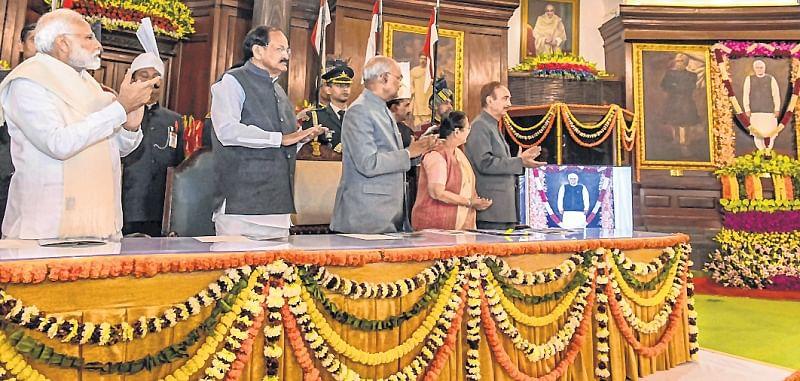 Atal Bihari Vajpayee's portrait unveiled in Parliament