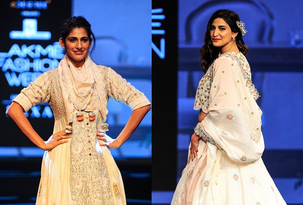 2 in 1! Kubbra Sait, Aahana Kumra turn showstoppers for Gazal Mishra at Lakme Fashion Week