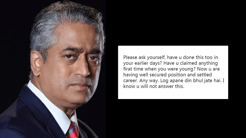 Rajdeep Sardesai slams TV media for running 'first' story on Priyanka Gandhi nameplate, Twitterati remind him to watch his own 'news' channel