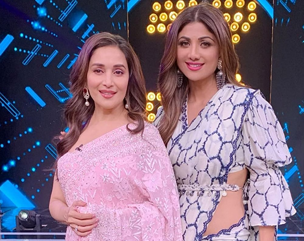 Fangirl Moment! Shilpa Shetty swooned over Madhuri Dixit on the sets of 'Super Dancer 3'