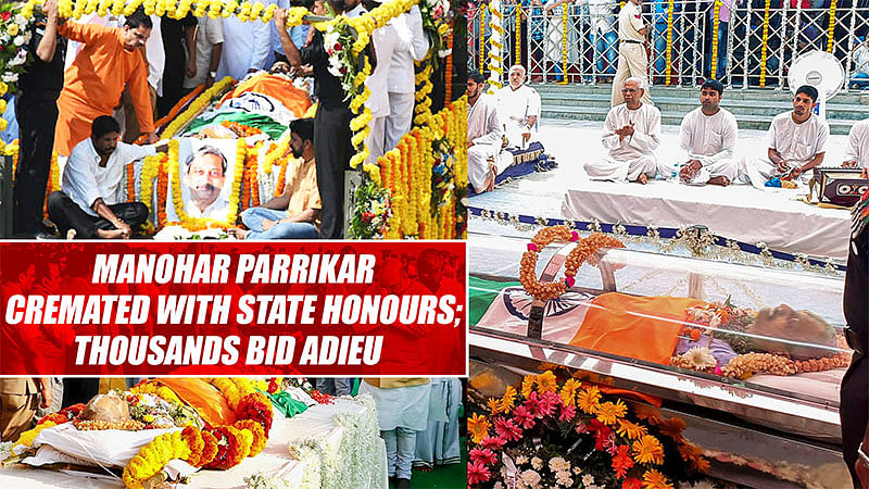 Manohar Parrikar Cremated With State Honours; Thousands Did Adieu