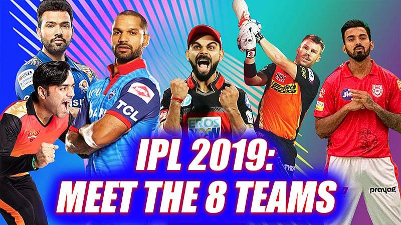 IPL 2019: Meet The 8 Teams   All Teams Players Full List